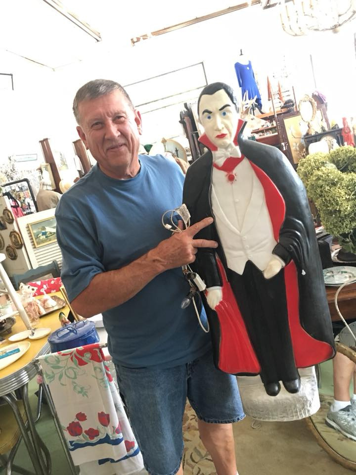 Customer With Antique Vampire Item