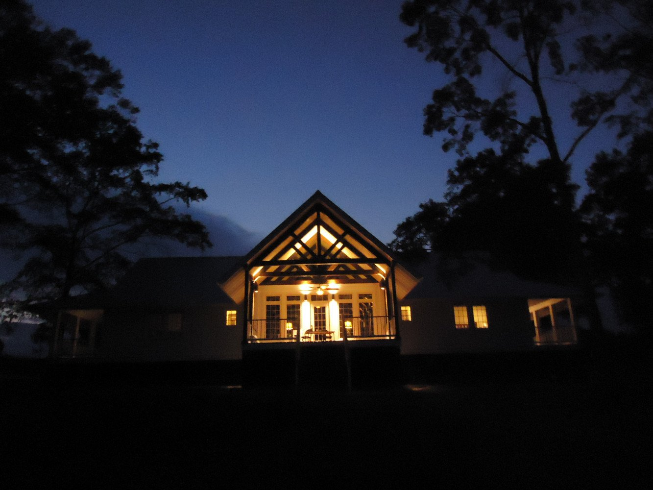 New lodge at dusk