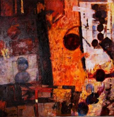 """Motion within Stillness, 36"""" X 36"""" oil on canvas $1000  © Diane Crago 2012"""
