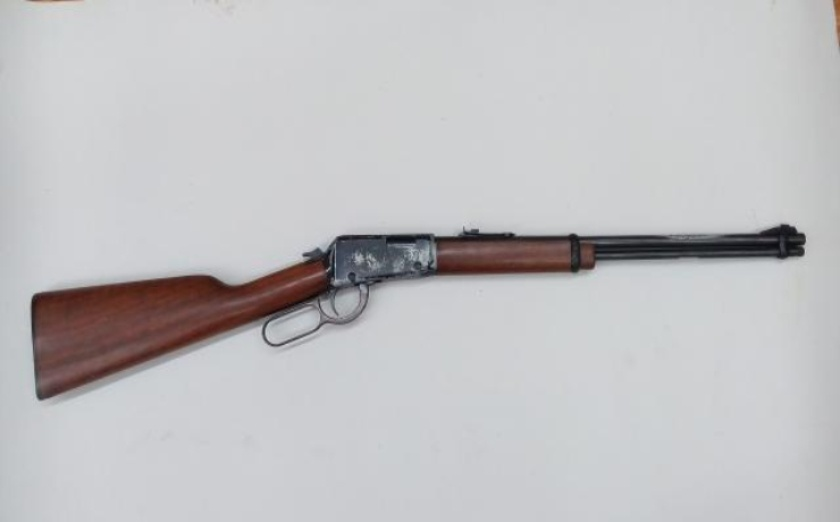 The customer brought us this Henry lever action 22 rifle to be redone, the barrel had a badly pitted area on the  outside, and the receivers finish was well worn.