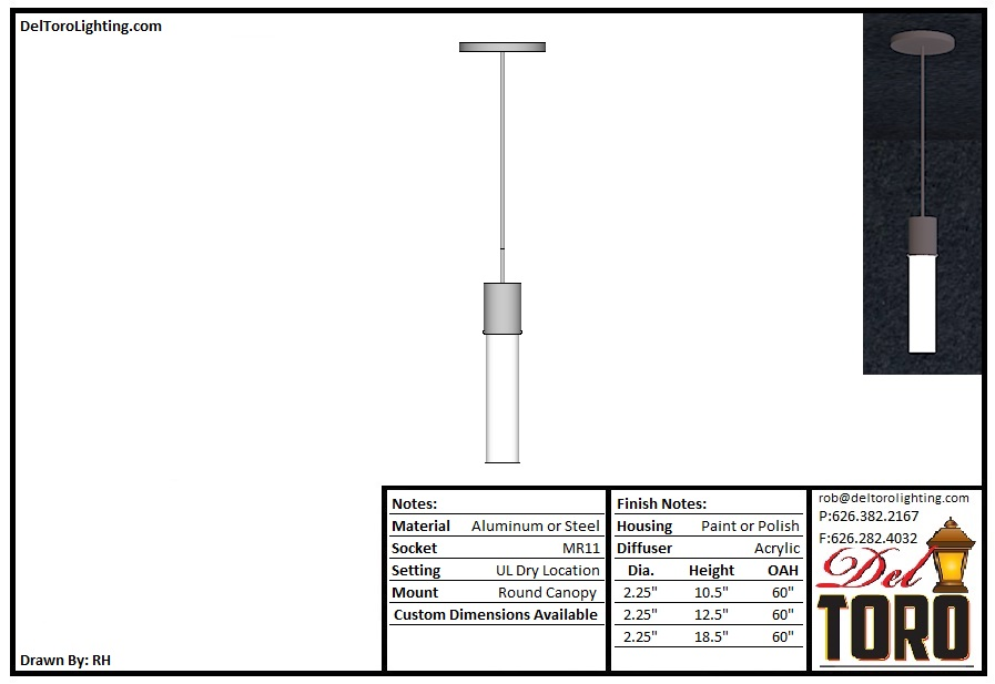 521P-Cylinder Mini Pendant