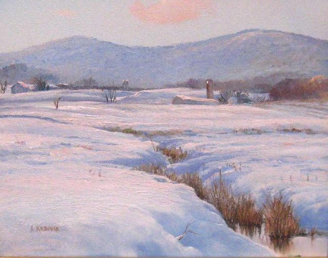 38. SOLD Winter Afternoon, Thurmont, MD, 8x10 oil on canvas