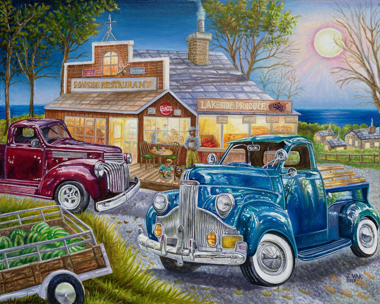Classic Studebaker and 40s Chevy Pickup Truck                       24 X 30 Original Oil                                $2500                                 2018