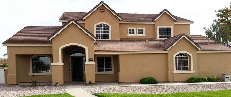 Dark Beige Home Exterior