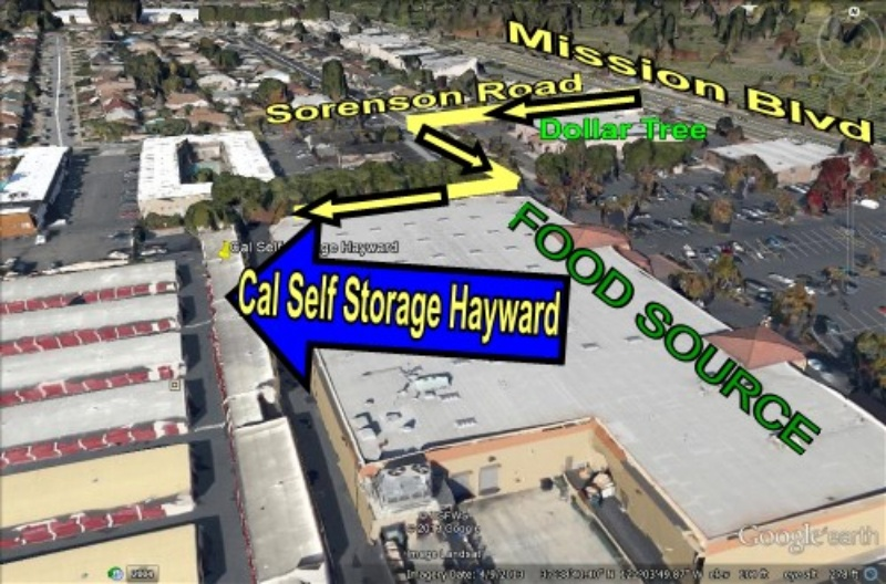 Cal Self Storage aerial view