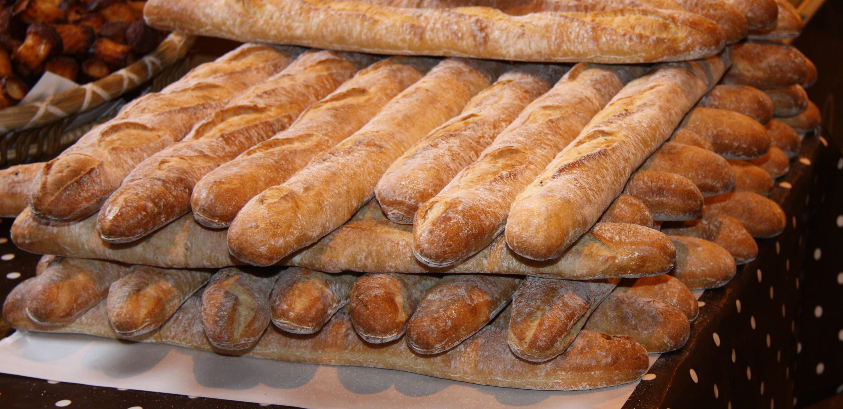 Fresh Baked French Stick Loaves