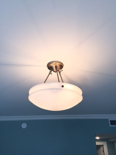 Alabaster Ceiling Lamp Completed