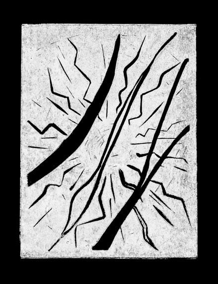Escalofrío, 2003 Grabado en madera sobre papel 20 x 30 cm