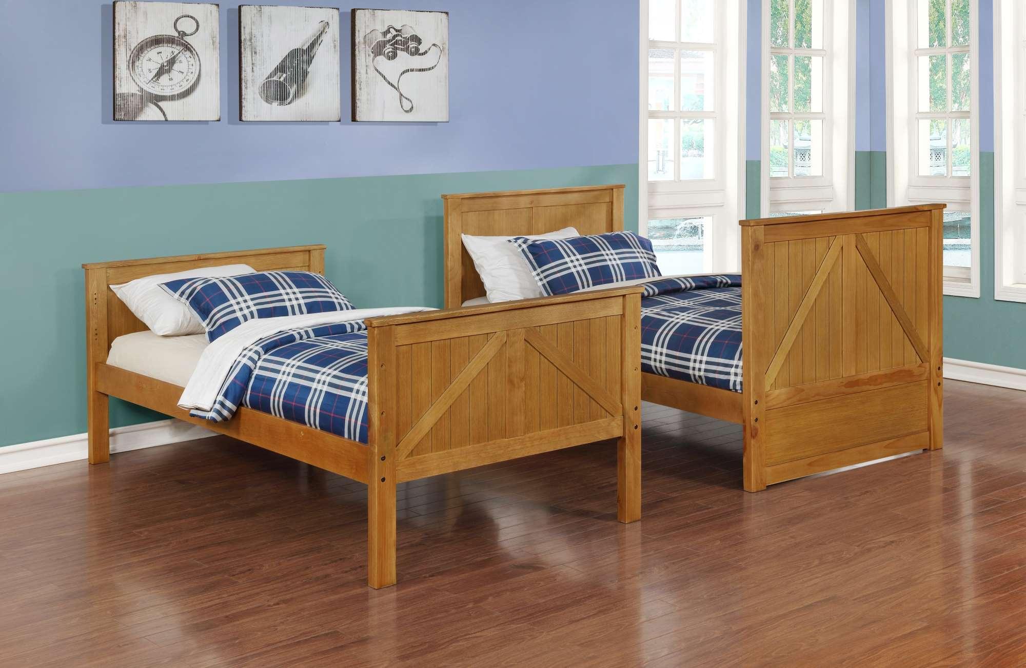 BED45485 Walnut Bunk Bed, Split