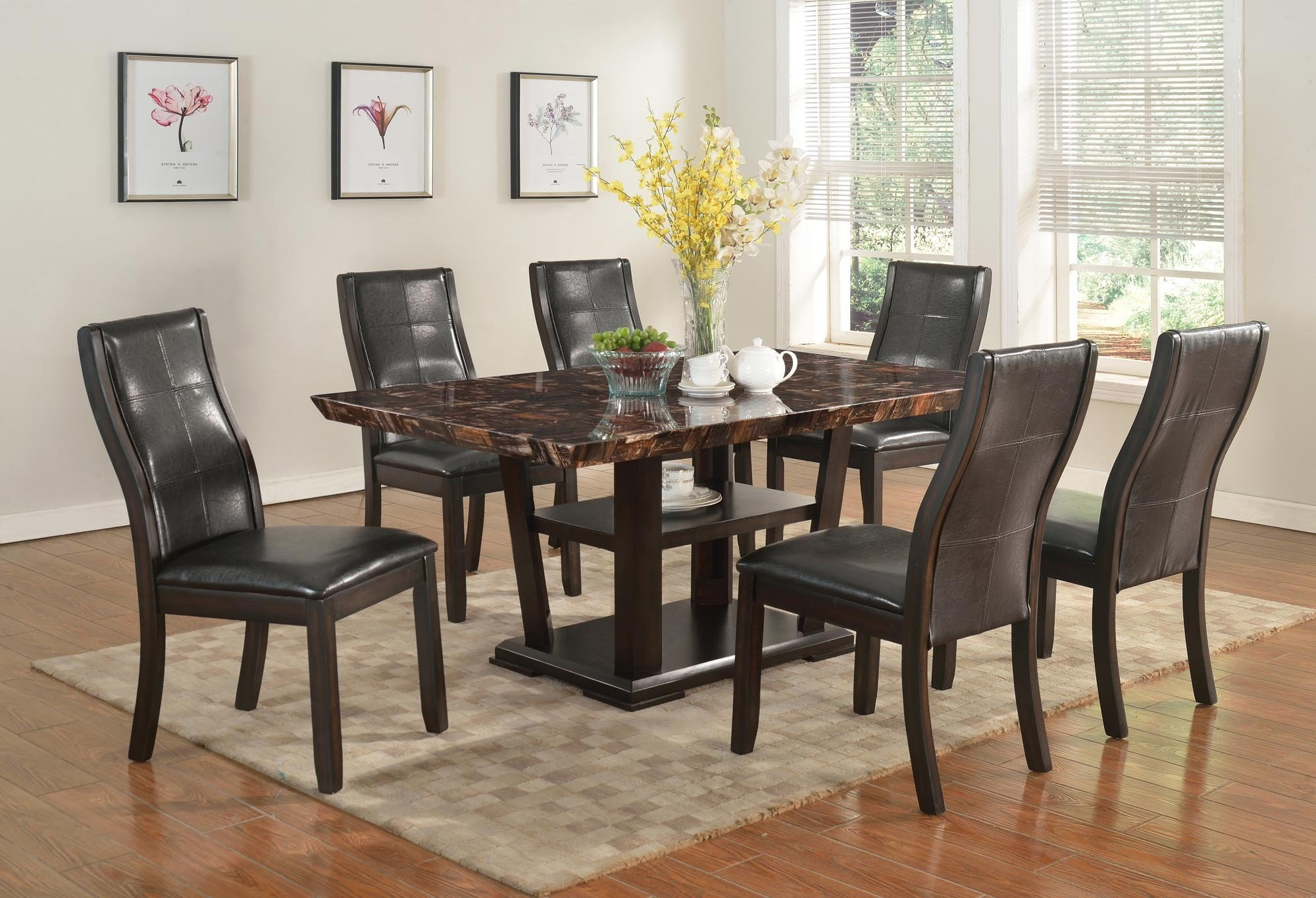 Kinsley Ctc 9256 7 Piece Dinette Table And 6 Chairs