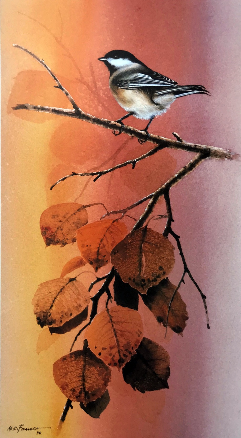 """ Chickadee "" Edition 450 S/N US $65 A/P  US $85 Image size 8 1/2 "" X 15 1/2"""