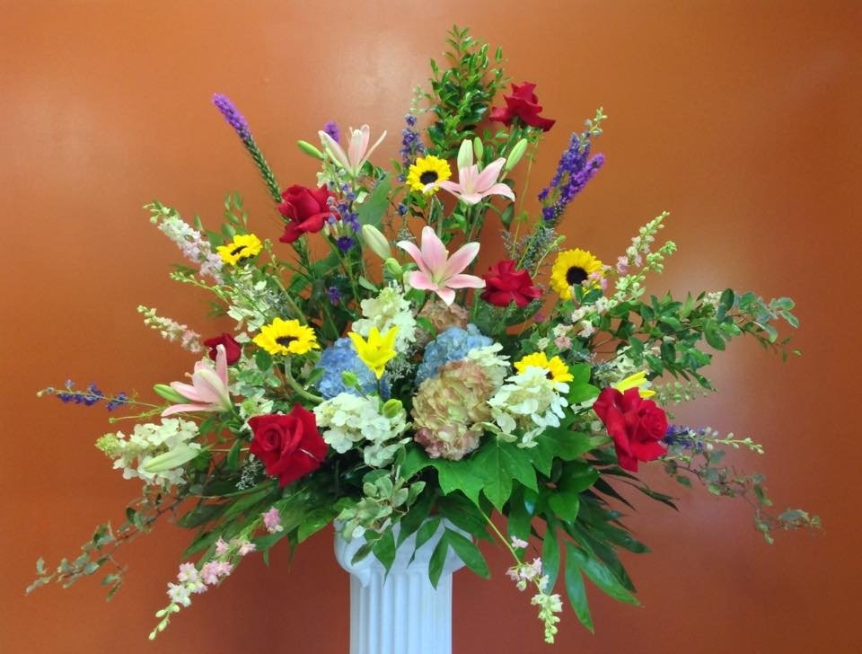 Fresh Flower Church Arrangement