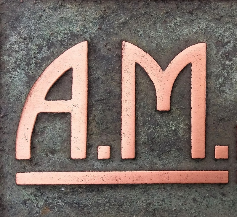 Polished Copper Finish Coatings Sample AM.6 Artistic Metals