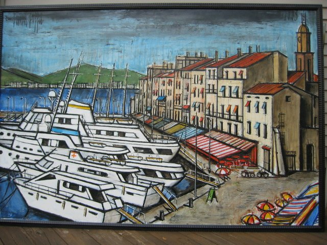 Le Port St. Tropez Oil on Canvas 76 3/4 x 51 3/16 inches (195 x 130 cm)