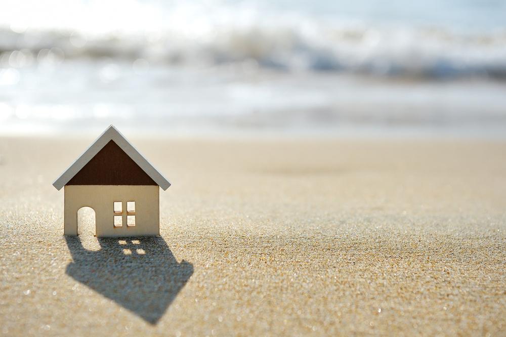 House on the sand beach