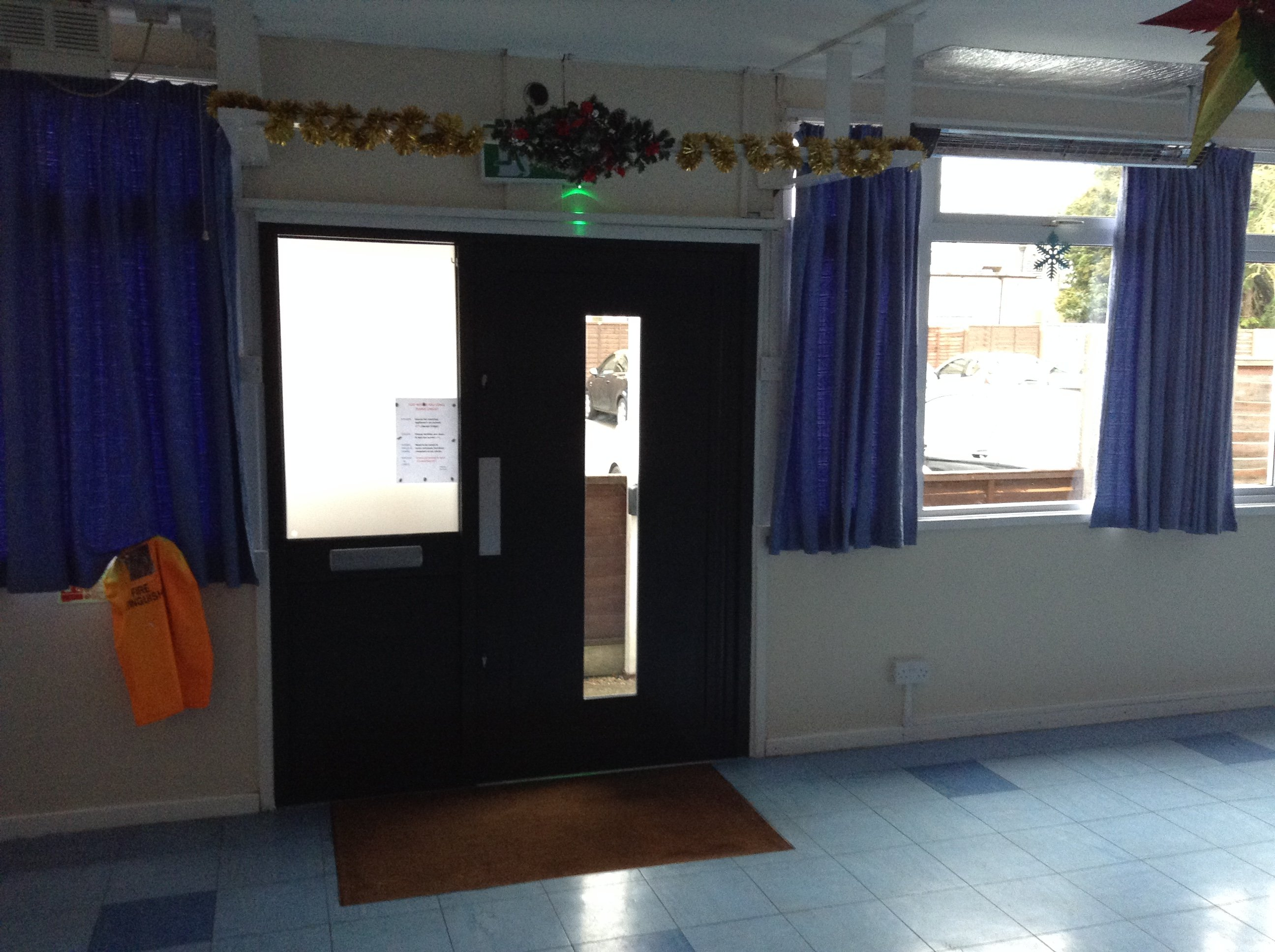 Our new door! Thanks to the Beds & Luton CFLLA Ltd Fund