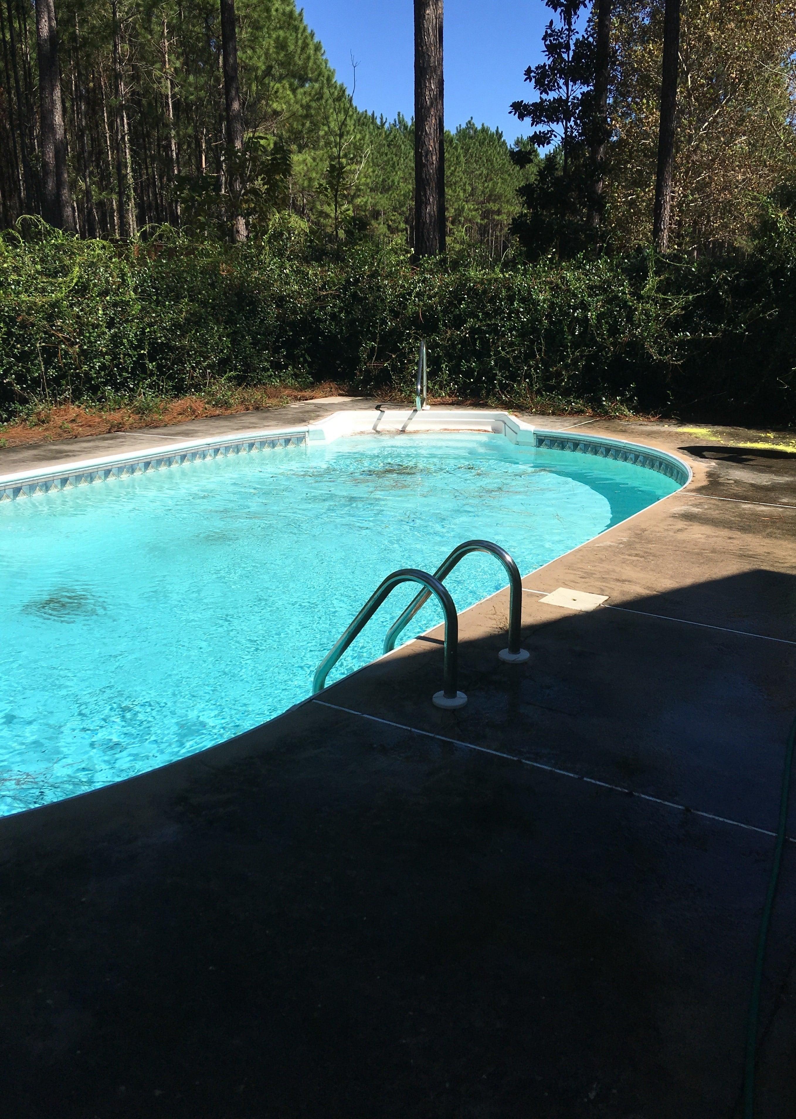 Pool Concrete Paint Before