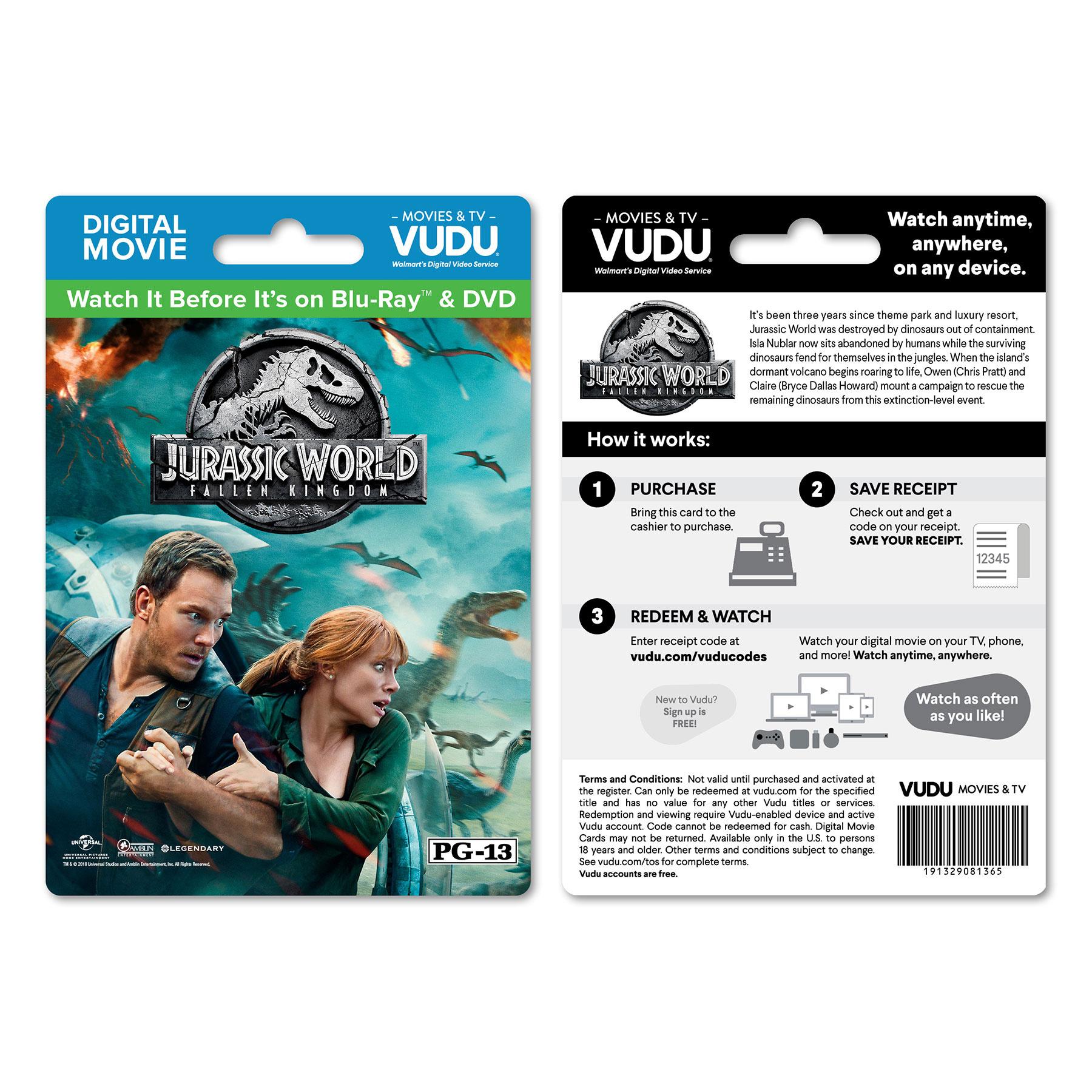 Jurassic World Walmart Digital Card