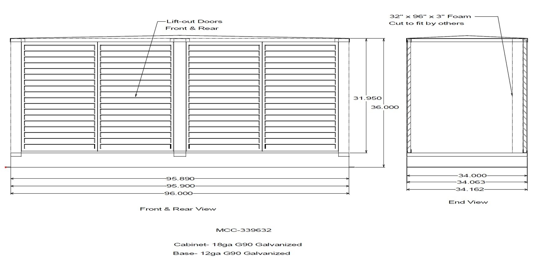Multi-Condenser Cabinet Diagram