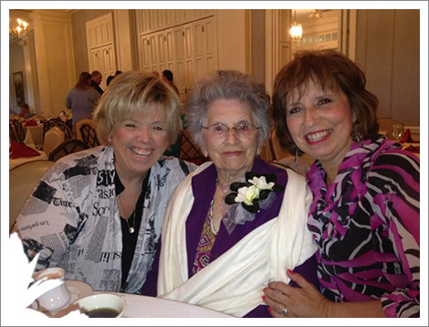 Mary Toots Carmola, Rose Carmola and Patty Carmola||||