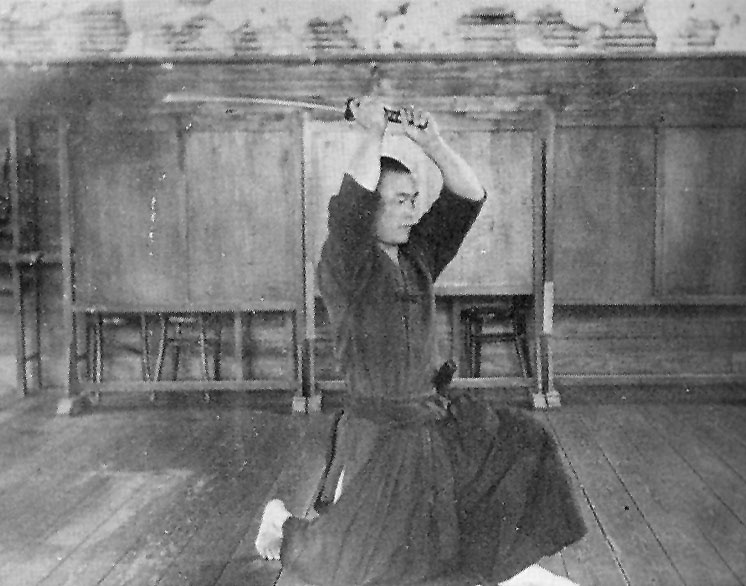 Young Nakamura performing Omori Ryu Iai.