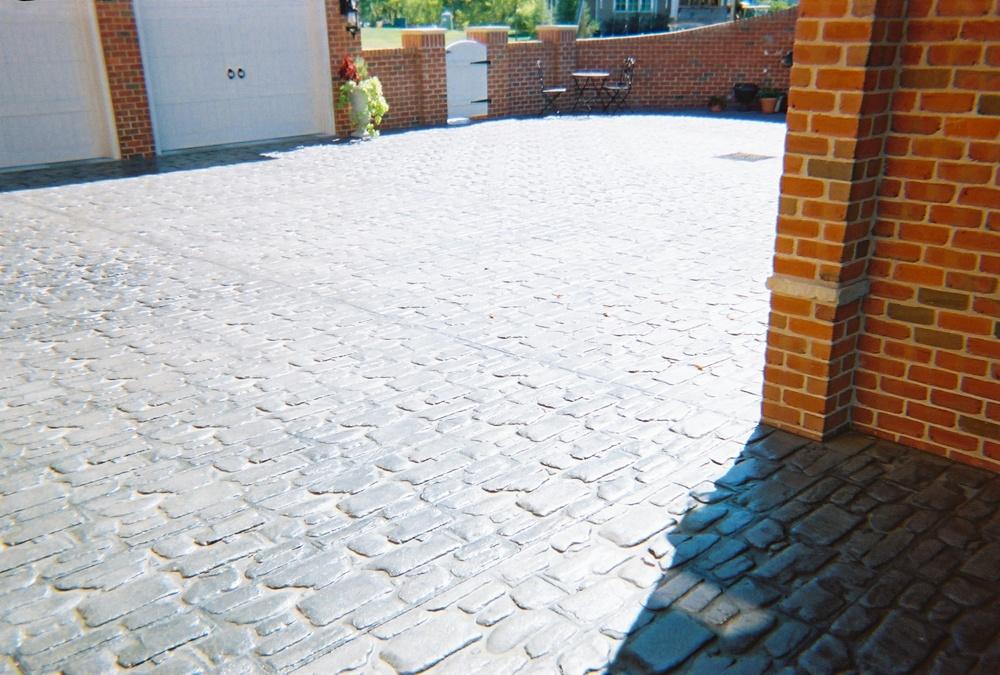 Random cobblestone courtyard
