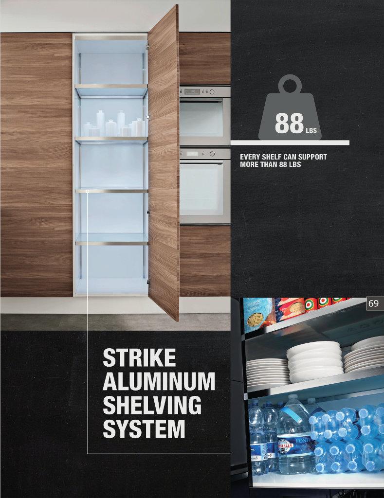 Strike Aluminum Shelving System - Scilm America