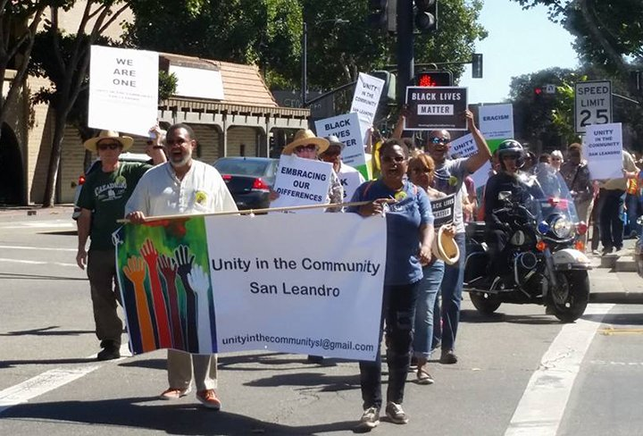 Residents participate in the Unity Walk on Sept. 24.