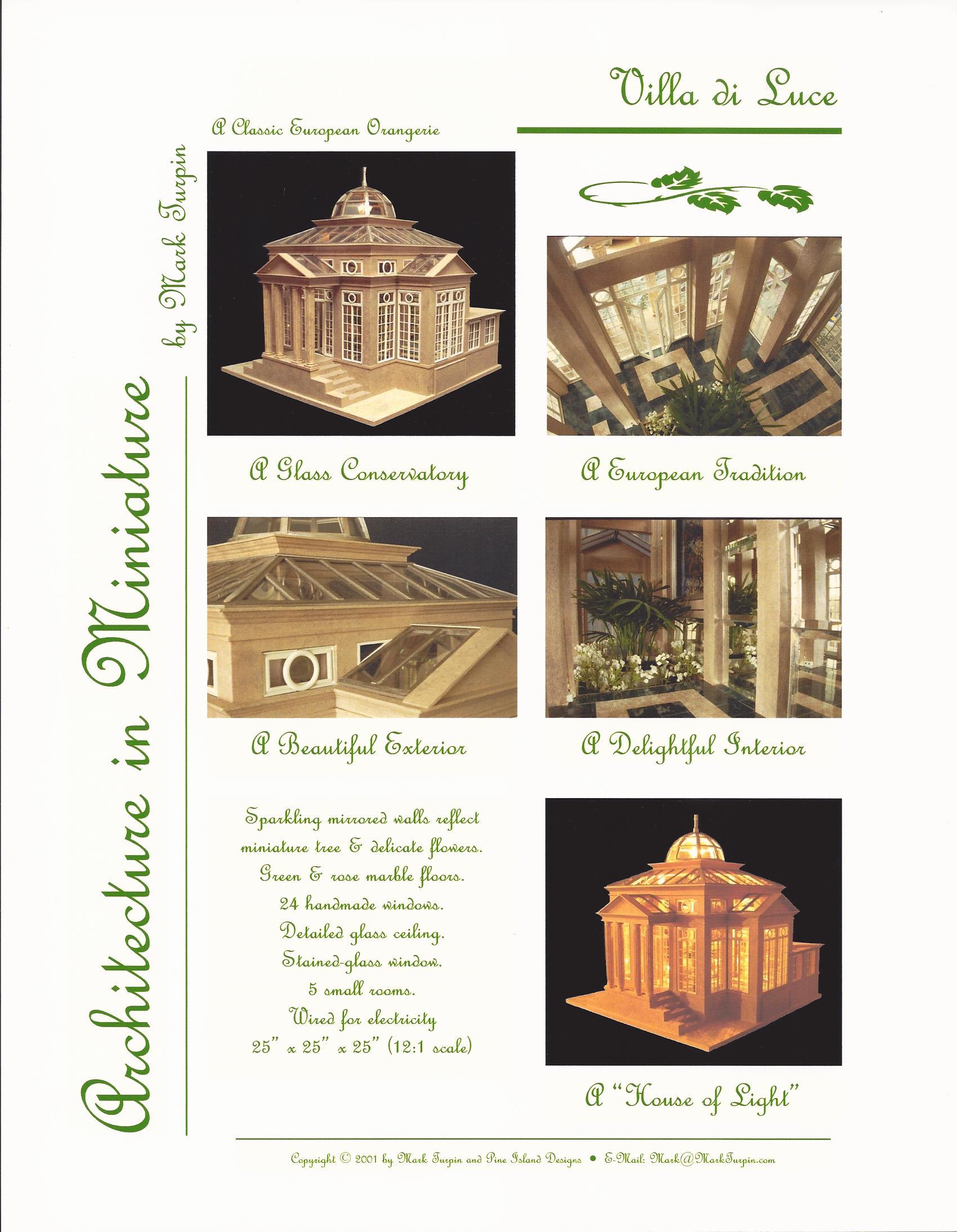 "Villa di Luce Conservatory 25"" x 25"" x 25"""