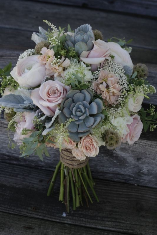 Rose Succulent Bouquet