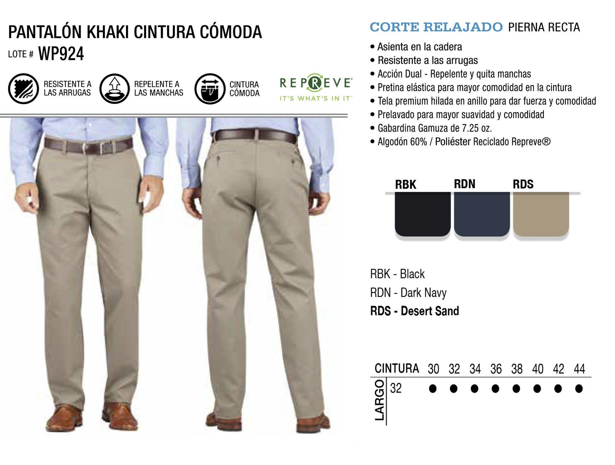 Pantalón Khaki Cintura Cómoda. Corte Relajado. WP924.