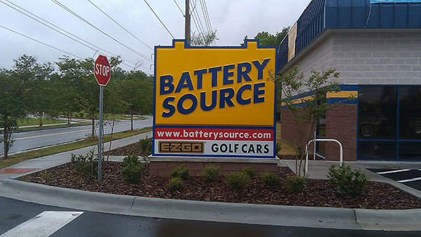 Battery Shaped Monument Sign