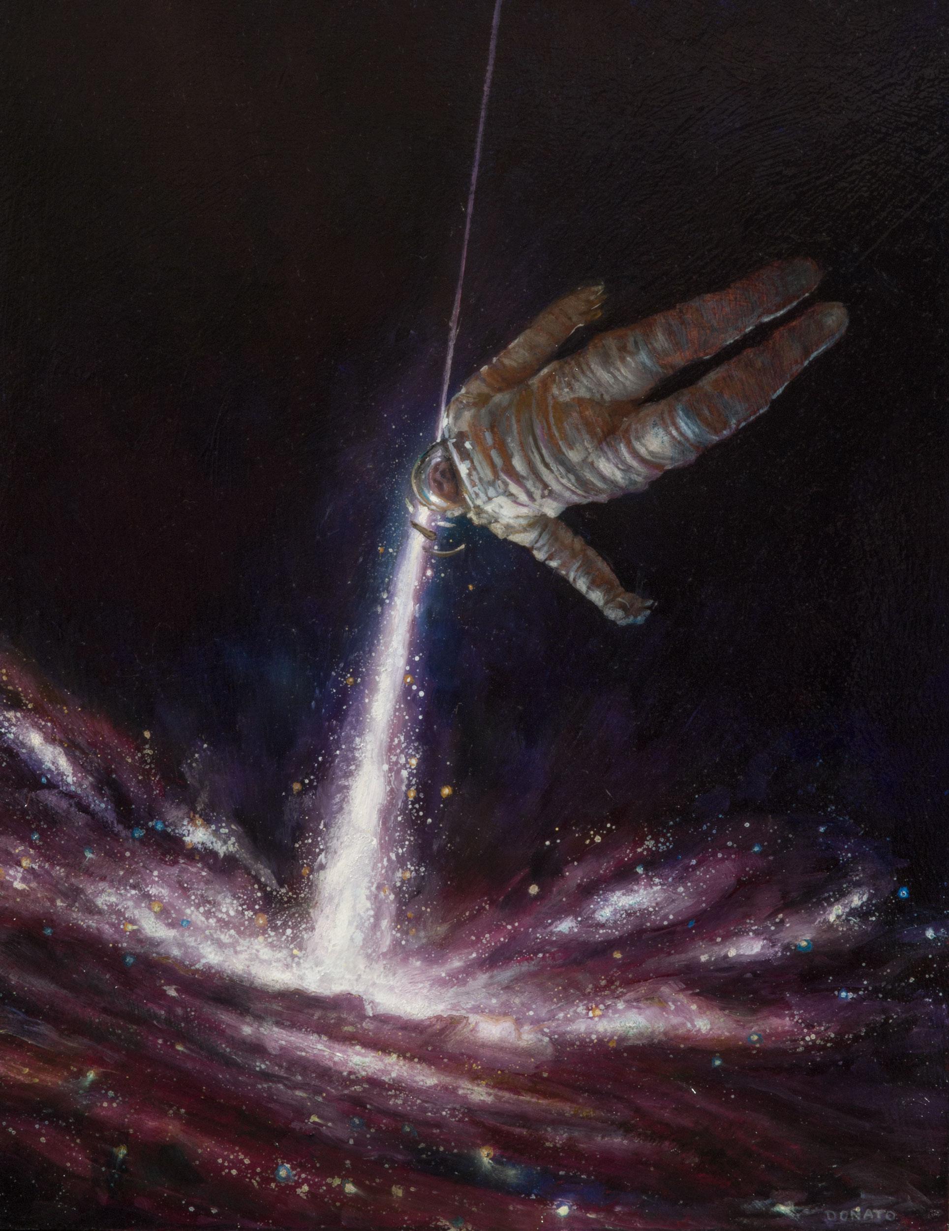 """Angle of Deflection 14"""" x 11""""  Oil on Panel  2017 collection of Nicolas Chavez"""