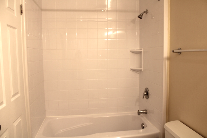 It also has a shower liner (less grout to clean!)