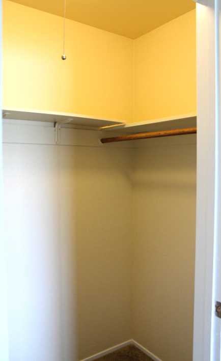 Right side of walk-in closet.