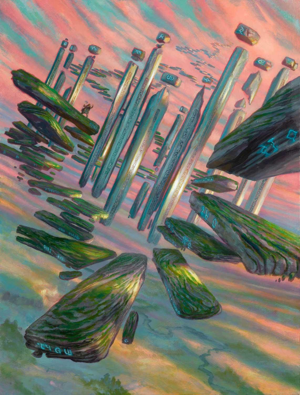 "Boulderloft Pathway Secret Lair:  Ultimate Edition 2 24"" x 18""  Oil on Panel private collection"