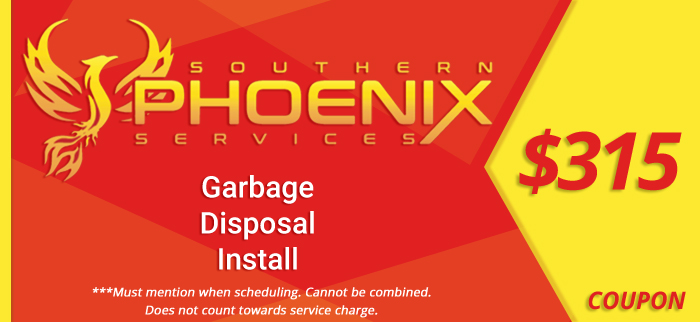 Coupon for a $315 garbage disposal install.