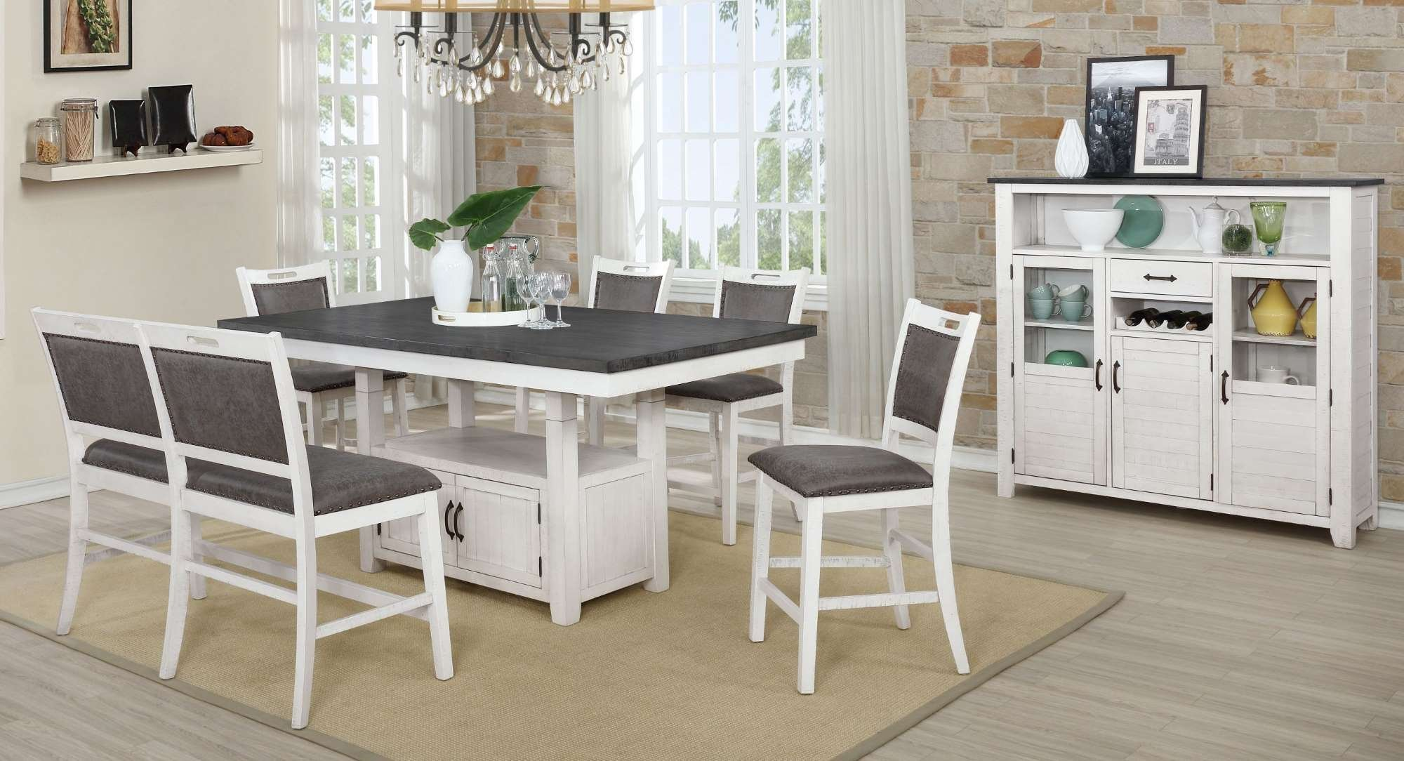 DIN1852P Counter Height Dining Set