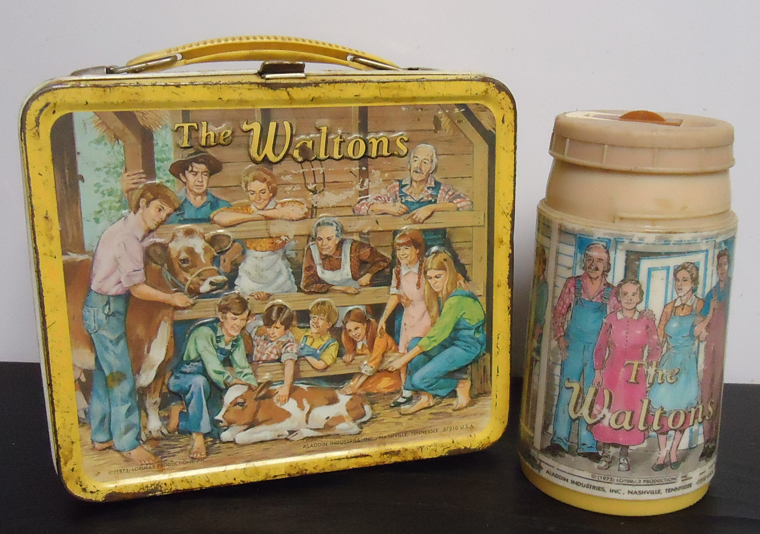 "(7) ""The Walton's"" Metal Lunch Box W/ Thermos $60.00"