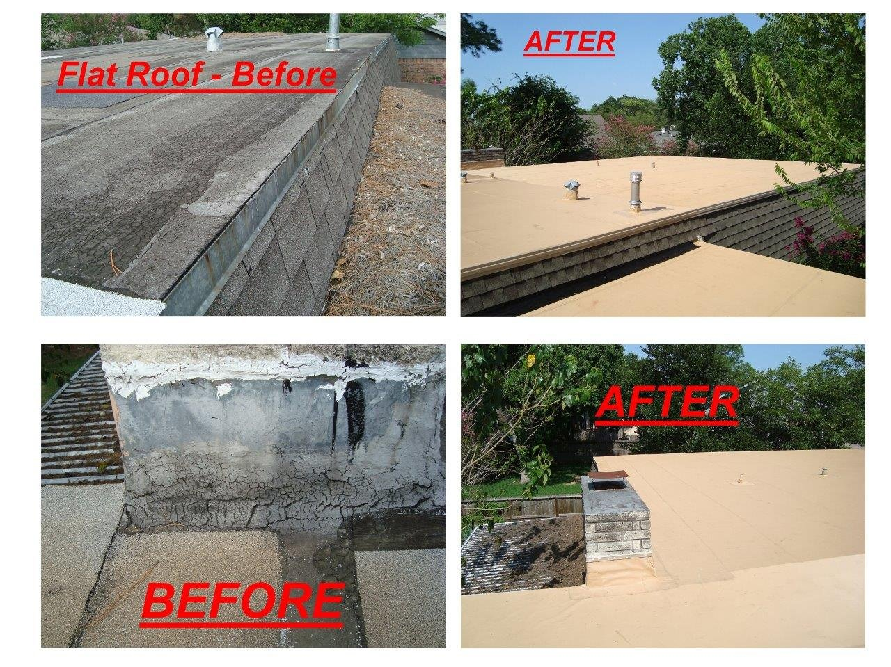 Roof Before and After