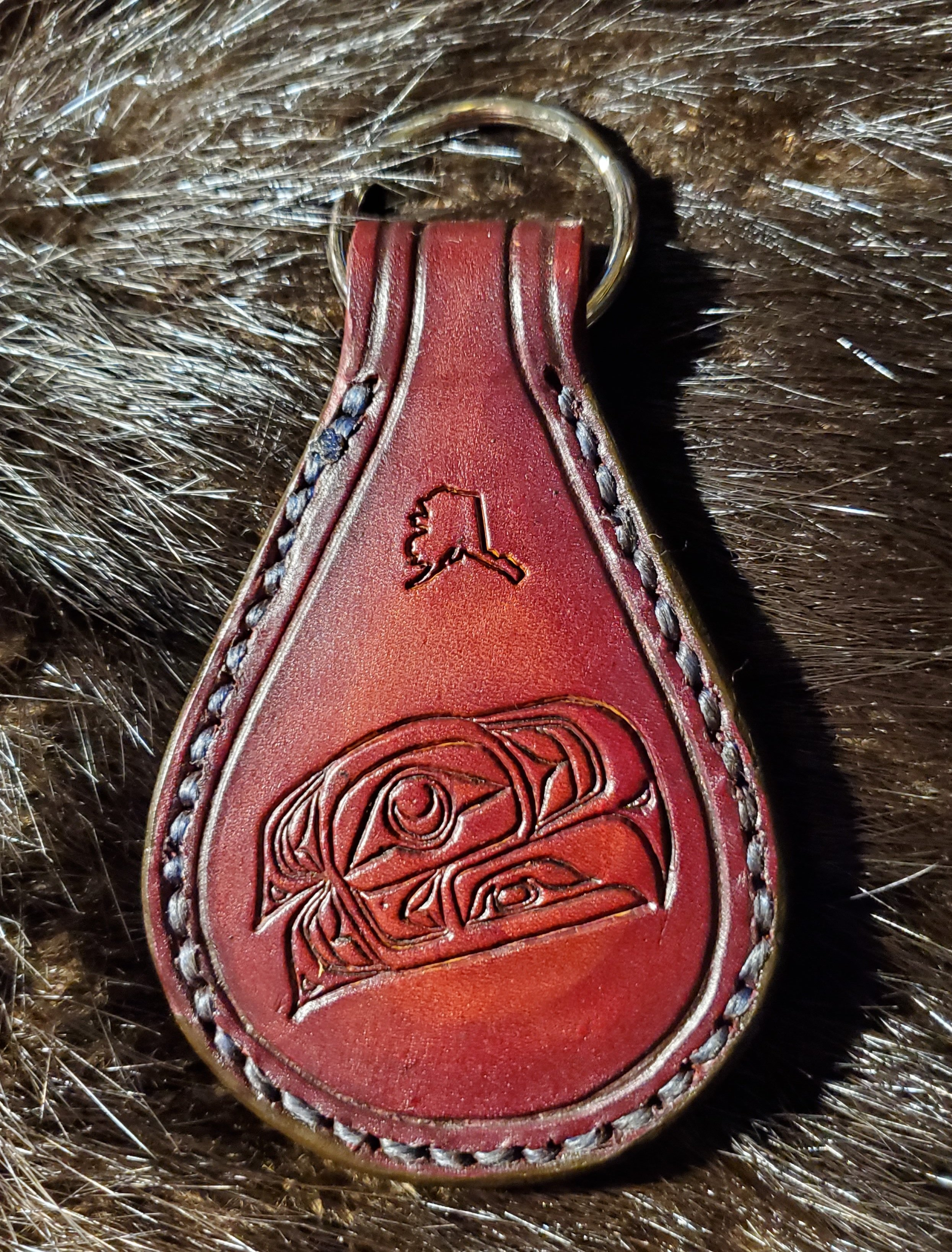 (Front)  Native Eagle, hand tooled and stitched,  (Back) Molon Labe  $25.00