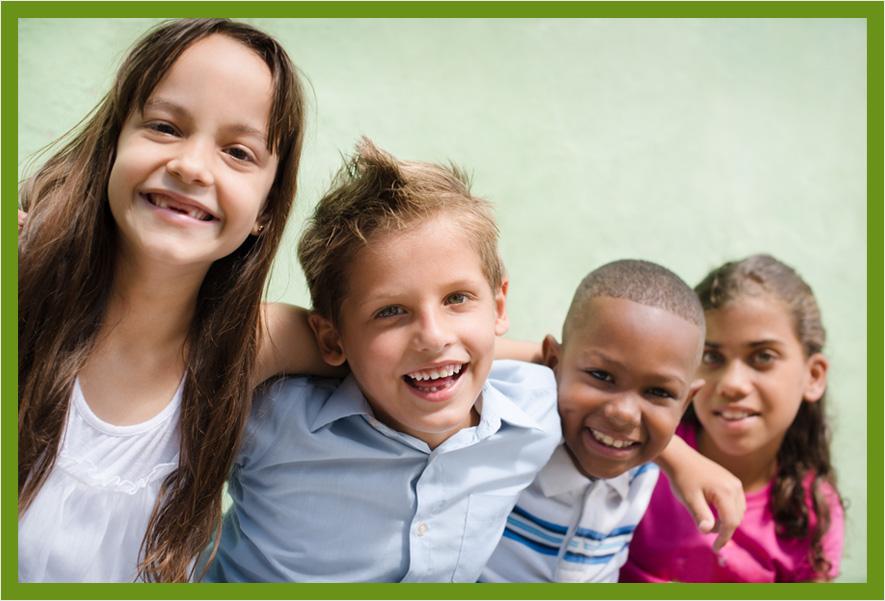Four smiling kids||||