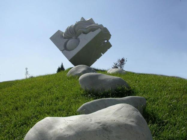The Monument of the Carabinieri -  marble, Bergamo, Italy