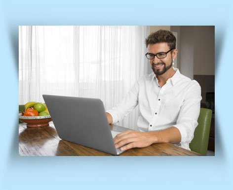 Accountant Working Comfortably on Laptop