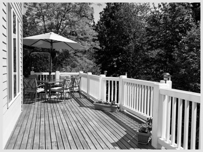 Home Outdoor Cedar Deck