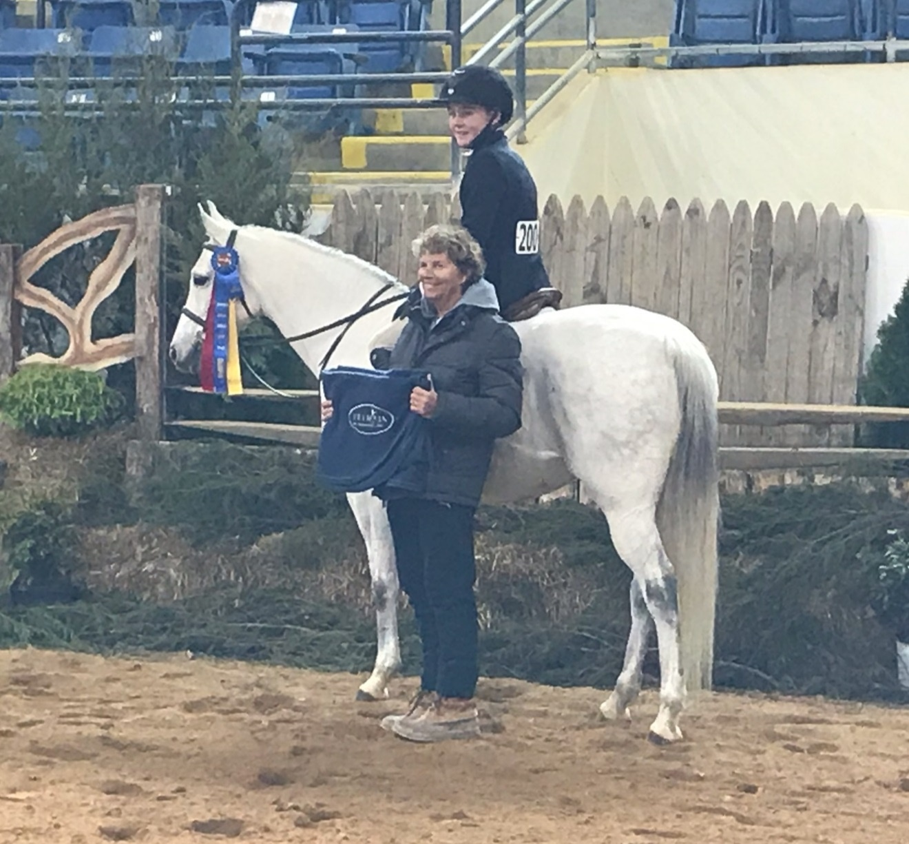 Large Pony Hunter Champion Little Bit of Class Owner: Mountain View Stables Rider: Wyatt Morris