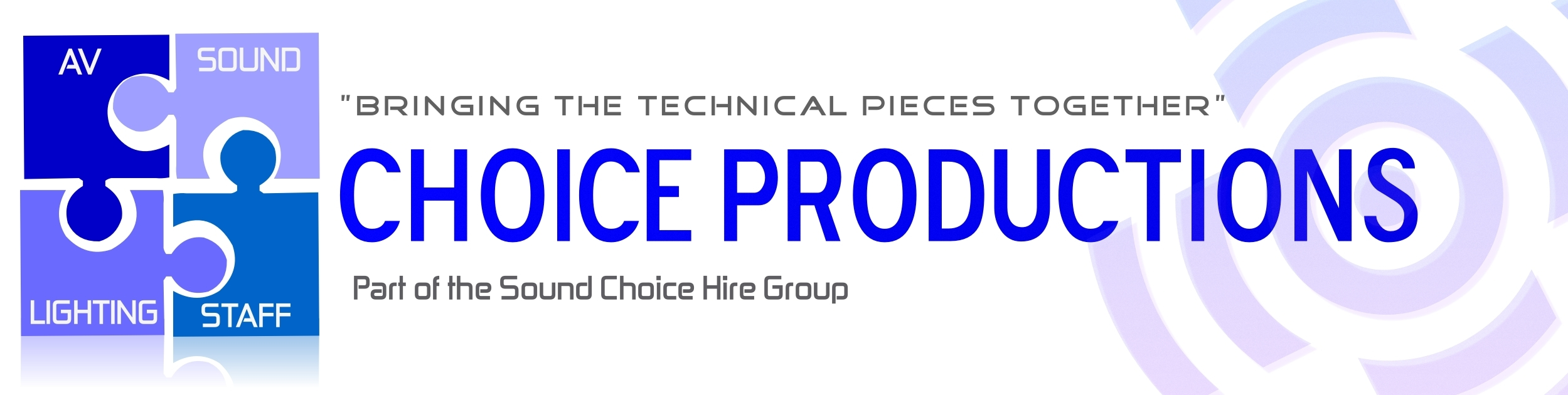 Choice Productions - Event Production Services - Pro Audio - Lighting - AV Hire