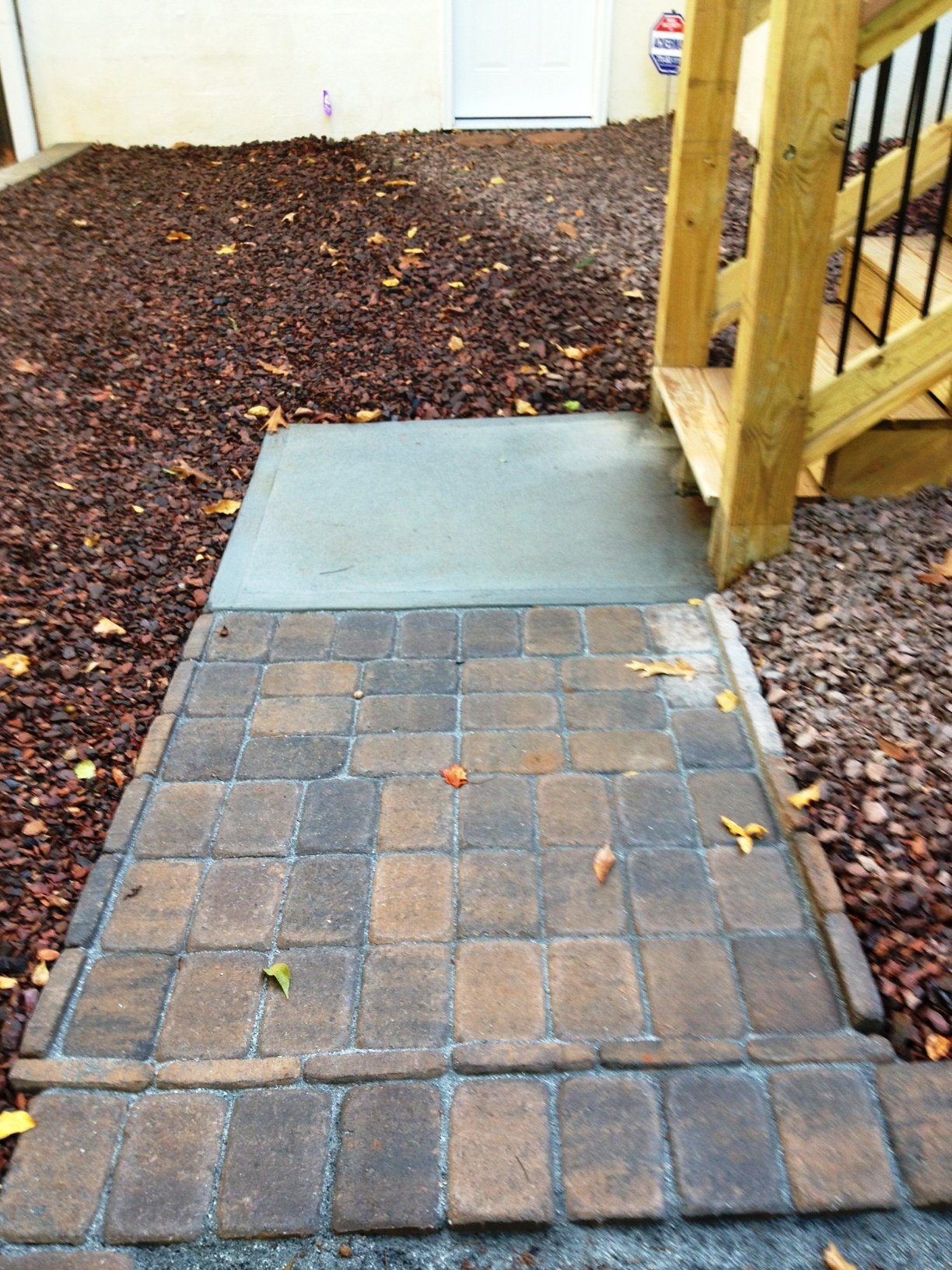 paver landings and walkways