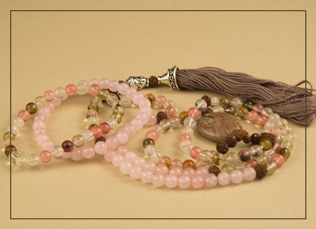 Pink and Brown Mala