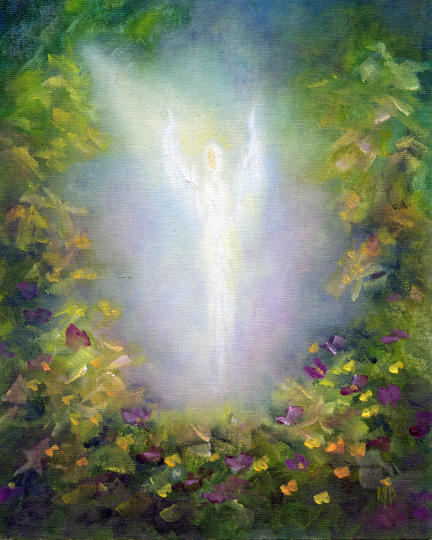 """Healing Angel ~ 8"""" x 10""""  Oil on Stretched Canvas       SOLD"""